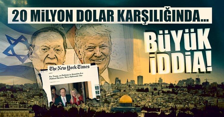 20 milyon dolar aldı! Kudüs'ü başkent yaptı