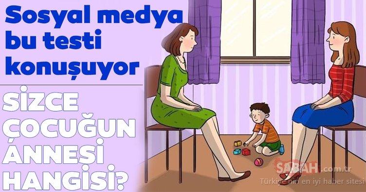 Sosyal medyayı ikiye bölen test! Sizce çocuğun annesi hangisi?