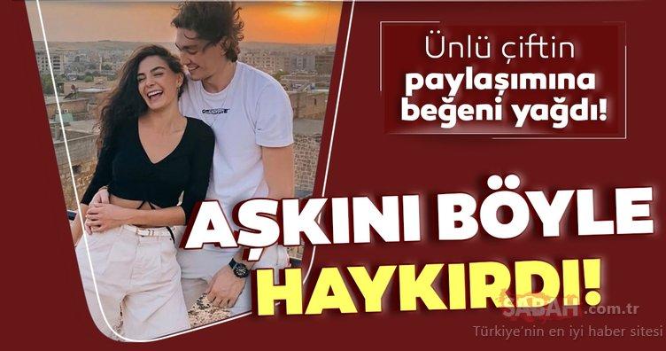 Hercai'nin yıldızı Ebru Şahin'in sevgilisi Cedi Osman aşkını böyle haykırdı! Cedi Osman ile Ebru Şahin'in aşk pozuna beğeni yağdı!