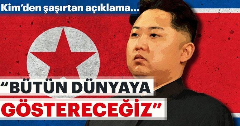 Kim Jong'un'dan şaşırtan açıklama