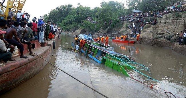Myanmar'daki feribot kazasında ölenlerin sayısı 72'ye çıktı