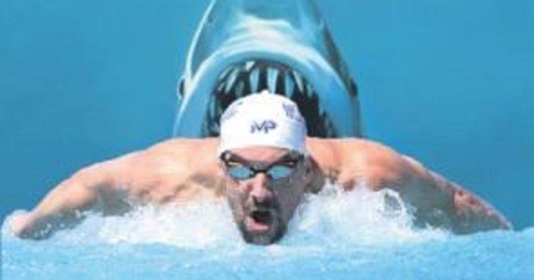 Phelps büyük beyaza karşı!