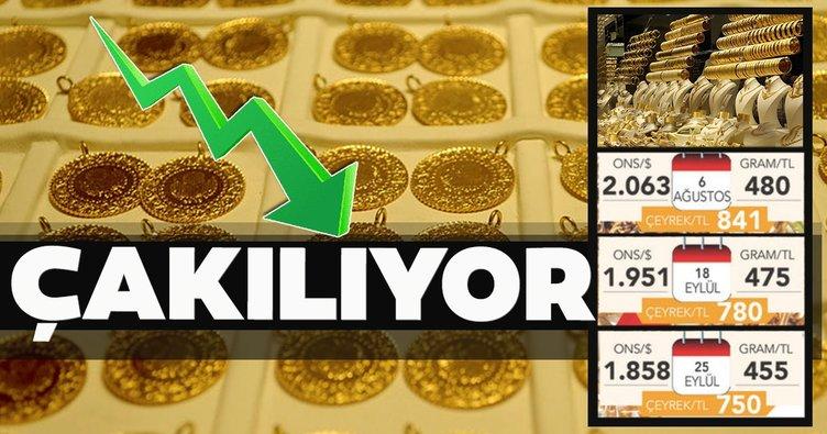 Altın fiyatları çakılıyor