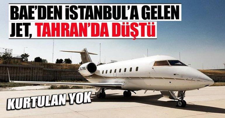 Son dakika: BAE'den Türkiye'ye gelen özel jet İran'da düştü