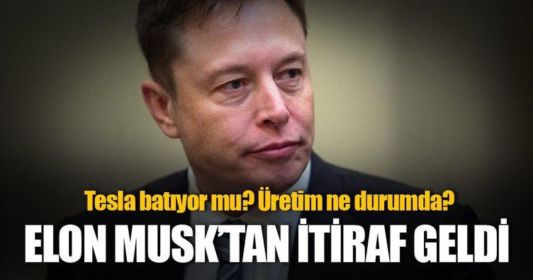 Elon Musk'tan Tesla Model 3 itirafı geldi