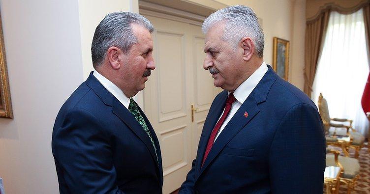 Başbakan Yıldırım, Destici'yi kabul etti