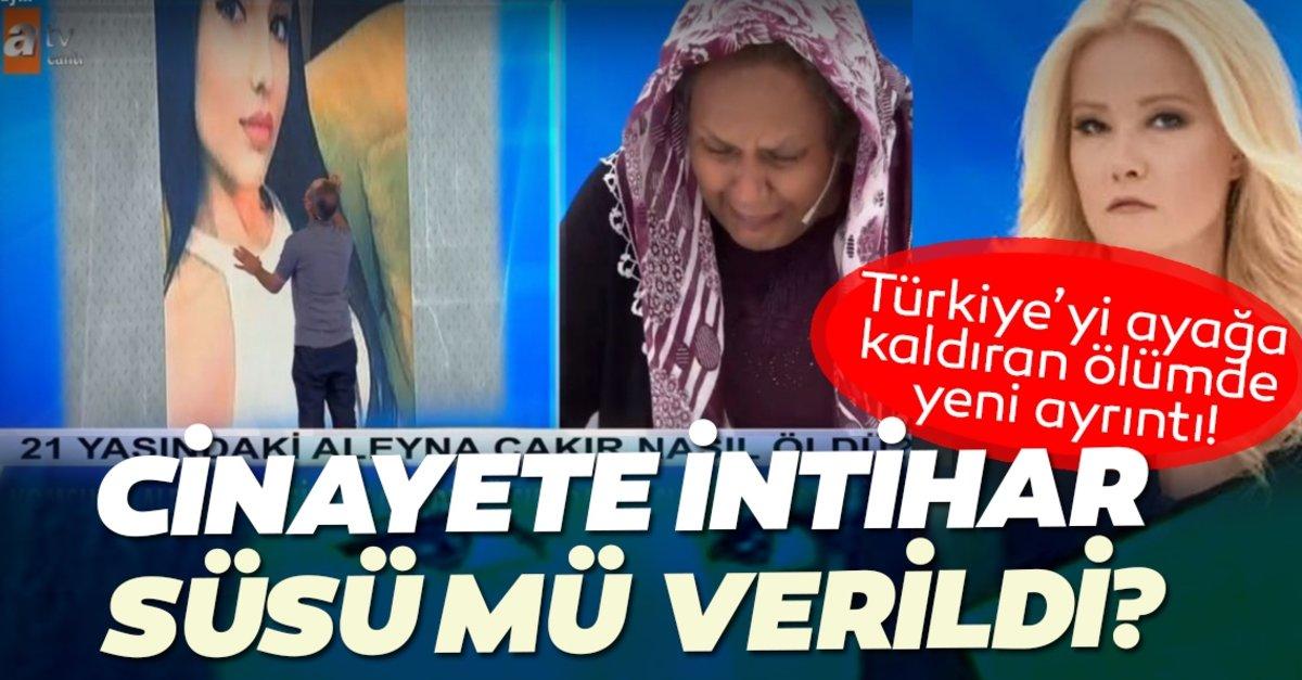 Son dakika haberler… Aleyna Çakır ölümünde intihar süsü şüphesi! Genç kız cinayete mi kurban gitti?…