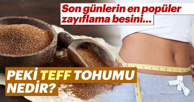 Teff tohumu nedir? Teff tohumu çayı zayıflatıyor mu?