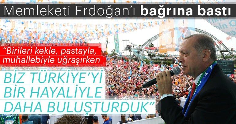 Cumhurbaşkanı Erdoğan Rize'de müjdeyi verdi