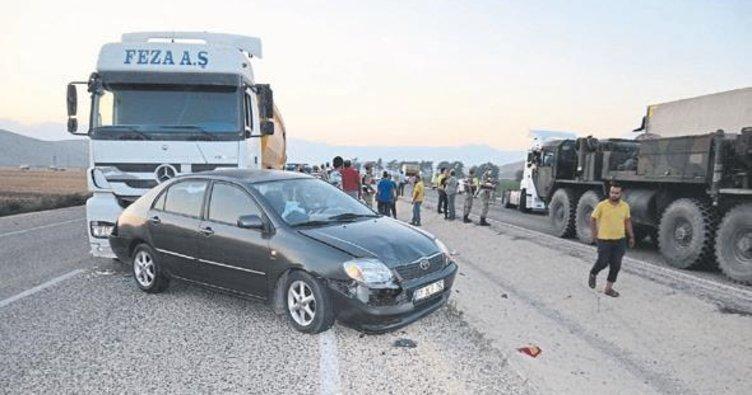 Hatay'da 7 araçlı zincirleme kaza