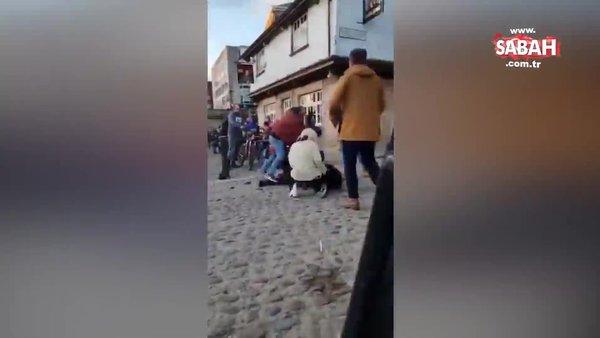 İngiltere normale döndü! Sokak kavgası kamerada   Video