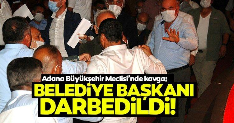 Adana Büyükşehir Meclisi'nde yumruklu kavga; belediye başkanı darbedildi