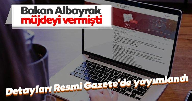 Bakan Albayrak'ın açıkladığı vergi indirimlerinin detayları Resmi Gazete'de yayımlandı:
