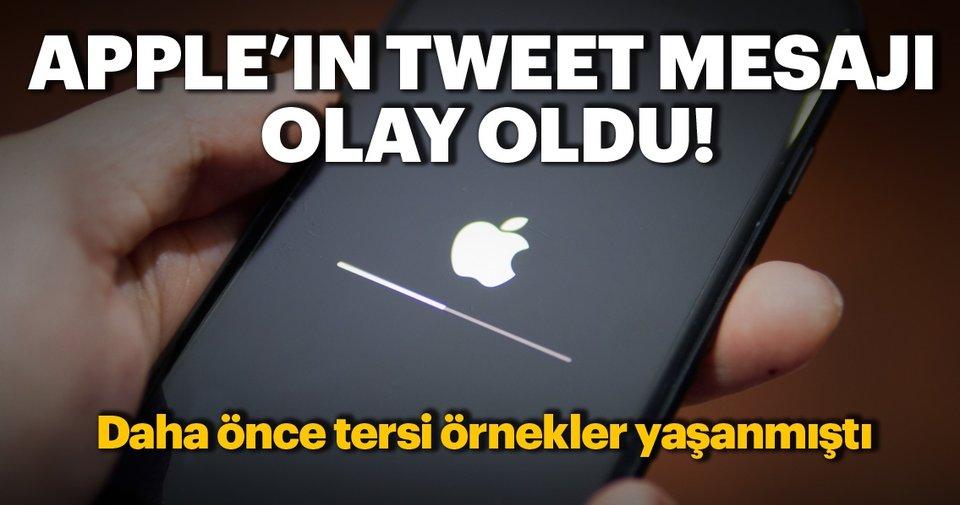 Resmi Apple hesabının attığı Tweet mesajı olay oldu!