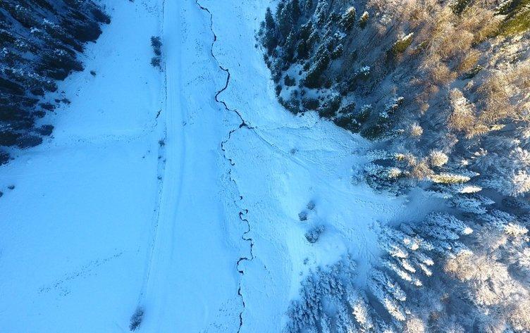 Düzce'de off-road tutkunlarının kar safarisi nefes kesti