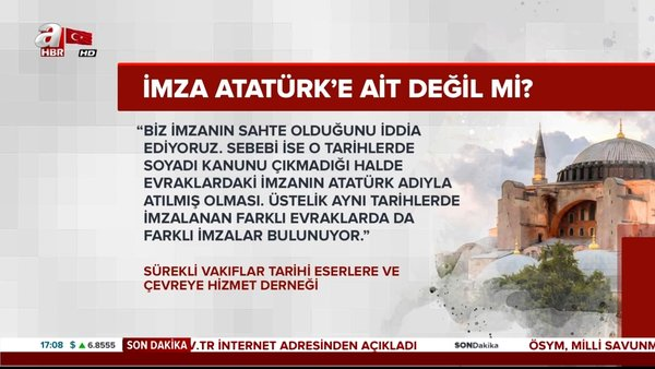 Ayasofya imzası Atatürk'e mi ait? Danıştay'ın tarihi Ayasofya kararı ne zaman açıklanacak?   Video