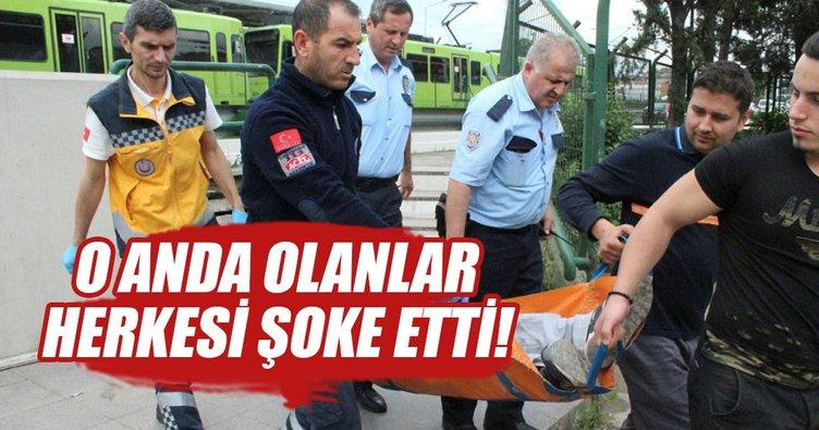 Kendinden geçip yere yığıldı, ambulans ve polisi görünce böyle kaçtı