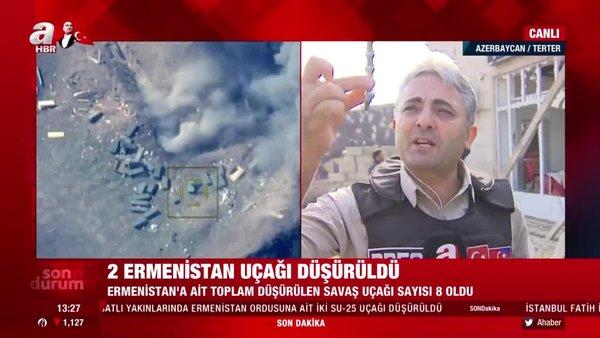 Son dakika! Azerbaycan 2 Ermenistan SU-25 savaş uçağını daha düşürdüğünü açıkladı | Video
