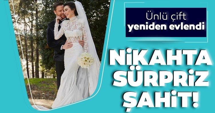 Son Dakika: Ünlü şarkıcı Sinan Akçıl ve oyuncu Burcu Kıratlı ikinci kez evlendi!