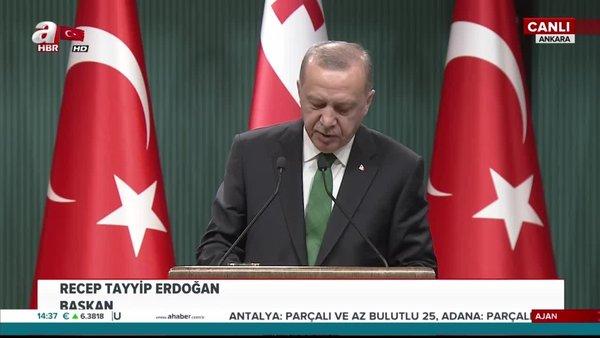 Başkan Erdoğan'dan Gürcistan Başbakanı ile ortak basın açıklaması