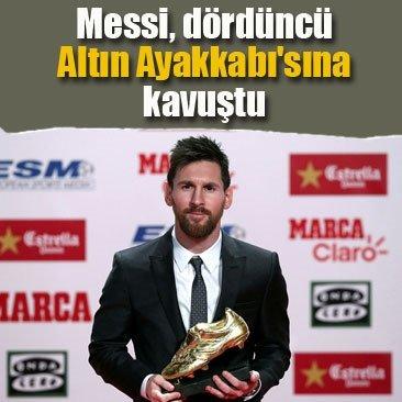 Messi, dördüncü Altın Ayakkabı'sına kavuştu