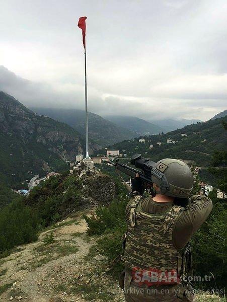 Karadeniz'de terörist avı sürüyor; Elebaşı telsizi düşürdü