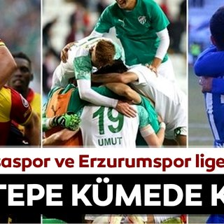 Göztepe ligde kaldı! Bursaspor ve Erzurumspor küme düştü!