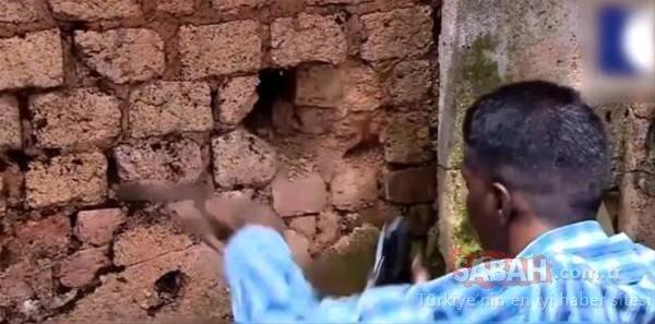 Duvarın içinden bakın ne çıktı!