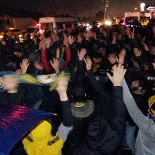 Fenerbahçe taraftarları Ersun Yanal için Samandıra'da