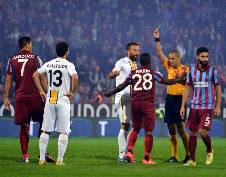 Trabzonspor-Lokeren maçından kareler