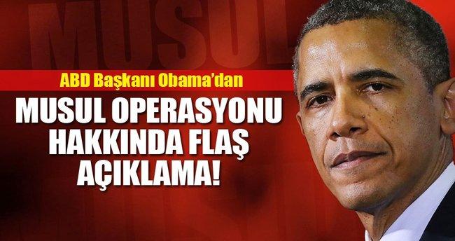 Obama'dan Musul operasyonu hakkında flaş açıklama!