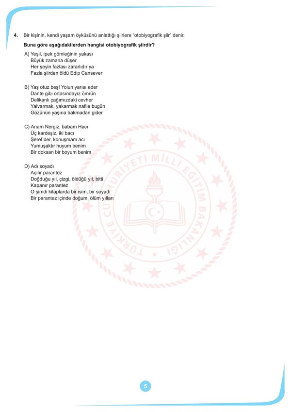 2020 LGS örnek soruları açıklandı! MEB LGS Ekim ayı örnek sözel ve sayısal soruları burada... (TAMAMI)