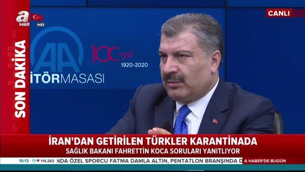 Sağlık Bakanı Koca'dan canlı yayında koronavirüs açıklaması