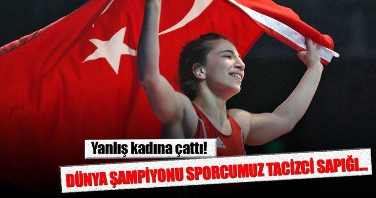 'Dünya Şampiyonu sporcumuz Yasemin Adar sarkıntılık eden tacizciyi dövdü' iddiası!