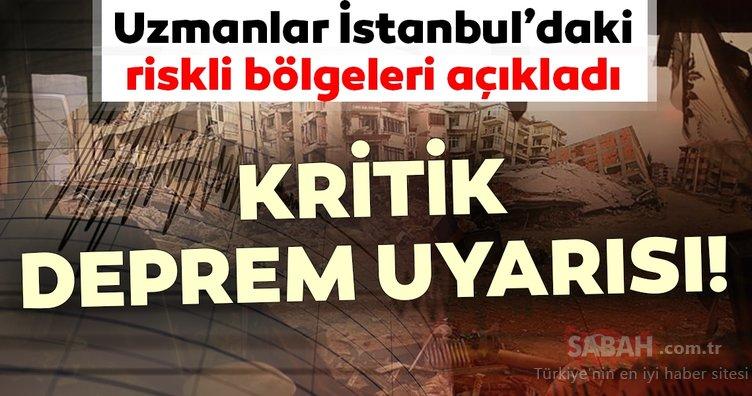 Uzmanlar İstanbul depremi hakkında kritik uyarılarda bulundu! İstanbul'da deprem riskinin olduğu bölgeler...