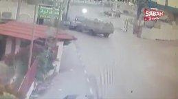 İsrail askeri aracı, Filistinlilerin aracına 'kasıtlı' çarptı 2 yaralı | Video