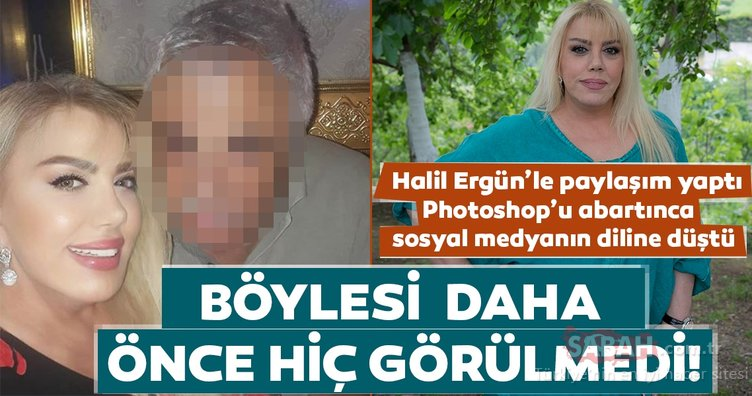 Mine Koşan Photoshop'u abartınca sosyal medyanın diline düştü! Halil Ergün bu kez bildiğiniz gibi değil!