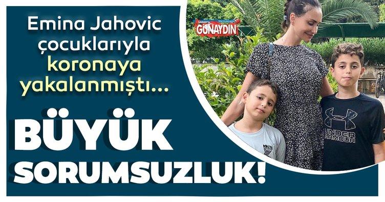 Çocuklarıyla koronaya yakalanan Emina Jahovic maskesiz gezintiye çıktı!