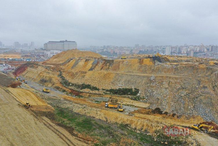 Ulaştırma ve Altyapı Bakanlığı, Başakşehir İkitelli Şehir Hastanesi'nin yollarının yapımına başladı