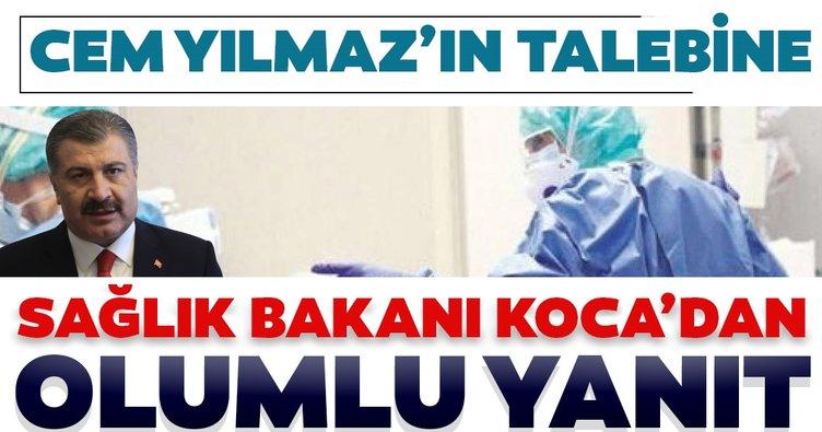 Son dakika haberi: Cem Yılmaz'ın çağrısına Sağlık Bakanı Fahrettin Koca'dan olumlu yanıt!