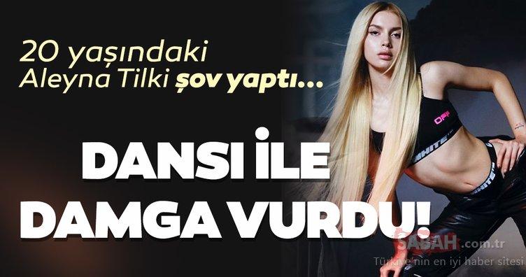 Aleyna Tilki direk dansı yaptı sosyal medyaya damga vurdu! 20 yaşındaki Aleyna Tilki'nin bu halleri olay...