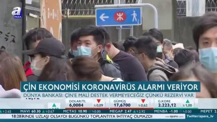 Çin ekonomisi koronavirüs alarmı veriyor