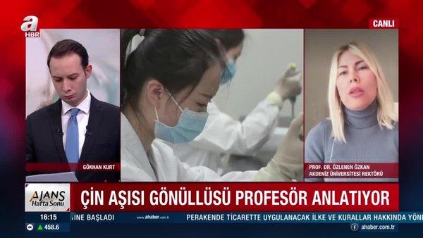 Çin aşısı gönüllüsü profesör, A Haber'de konuştu: