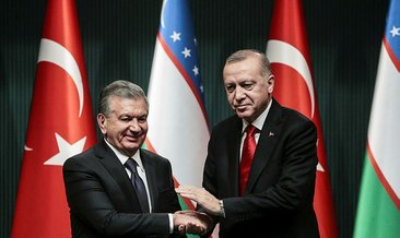 Erdoğan, Özbekistan Cumhurbaşkanı Mirziyoyev onuruna yemek verdi