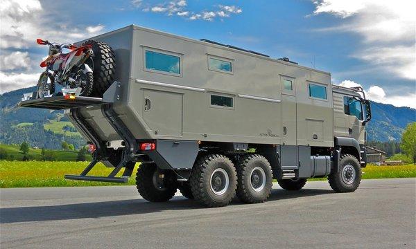 Zırhlı kamyondan lüks rezidans yaptılar!