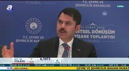 Son dakika! Çevre ve Şehircilik Bakanı Murat Kurum'dan flaş kentsel dönüşüm açıklaması | Video