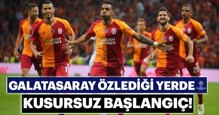 Galatasaray'dan Şampiyonlar Ligi'ne kusursuz başlangıç