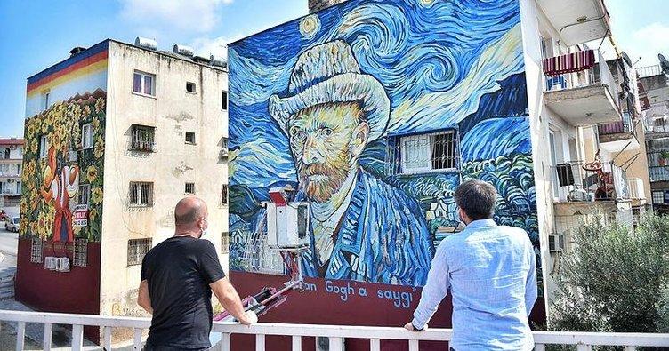 36 yıllık binaya Van Gogh tablosu