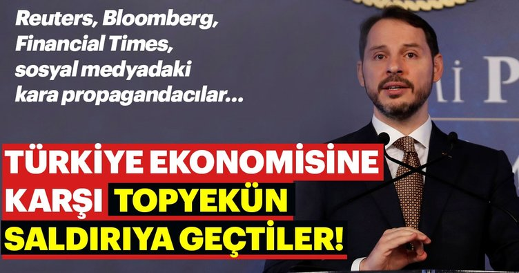 Son dakika haber: Türkiye ekonomisine karşı topyekün saldırıya geçtiler! Reuters, Bloomberg, Financial Times'tan kara propaganda
