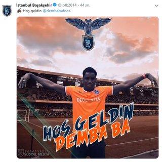 Son dakika: Demba Ba, Başakşehir'e transfer oldu